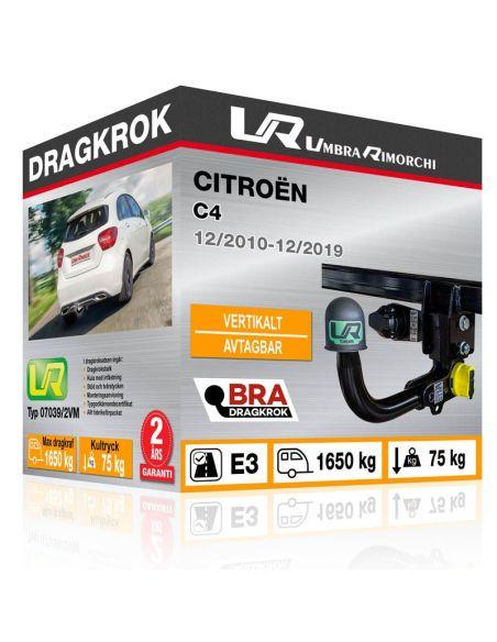 Dragkrok Citroën C3 PICASSO med horisontellt avtagbar kula