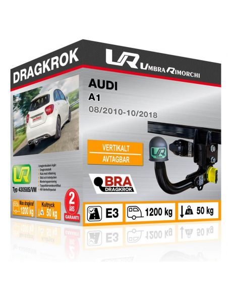 Dragkrok Audi A1 fast [1]