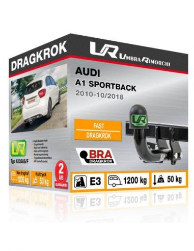 Dragkrok Audi A1 med vertikalt avtagbar kula