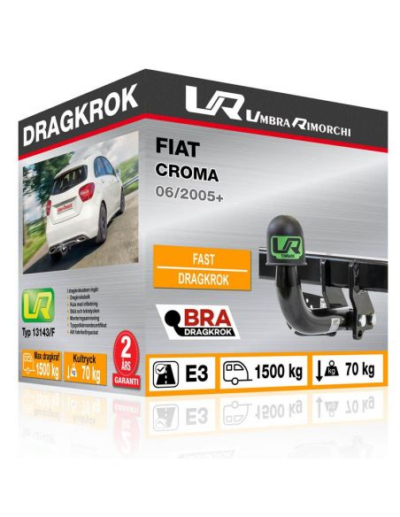 Dragkrok Fiat 500L LIVING med horisontellt avtagbar kula [2]