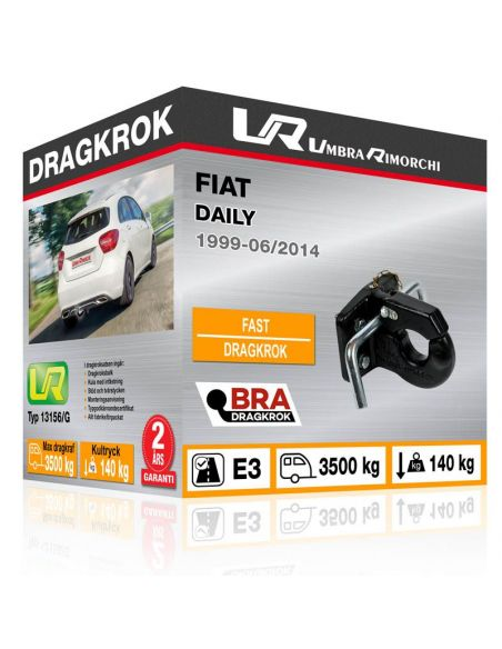 Dragkrok Fiat 500L TREKKING med vertikalt avtagbar kula