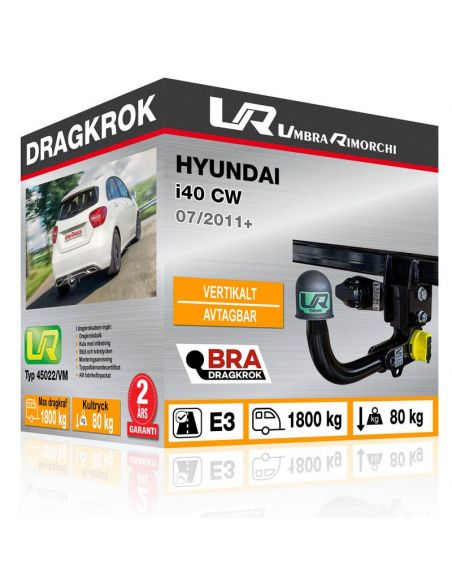 Dragkrok Hyundai GETZ med horisontellt avtagbar kula [1]