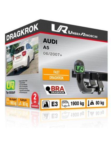 Dragkrok Audi A5 med horisontellt avtagbar kula