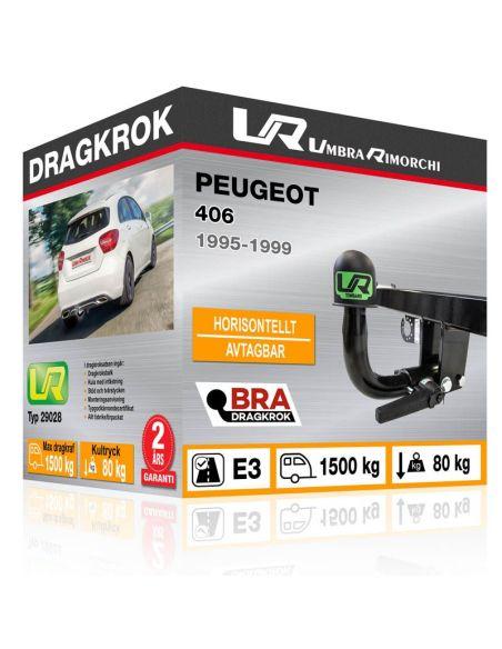 Dragkrok Peugeot 106 med horisontellt avtagbar kula [1]