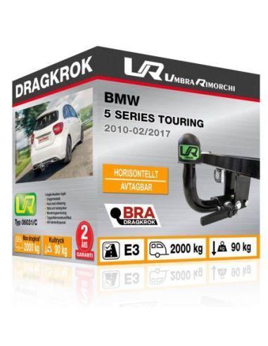 Dragkrok BMW 5 SERIES TOURING med horisontellt avtagbar kula