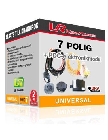 Elsats till dragkrok – 7-polig med PDC-elektronikmodul (automatisk avaktivering av parkeringssensorer)